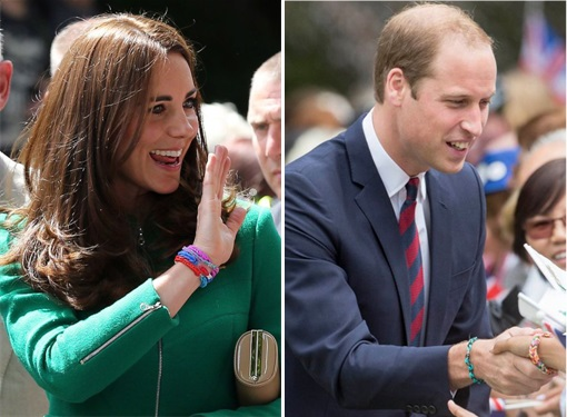 Loom Bands - Rainbow Loom - Kate Middleton and Prince William wearing