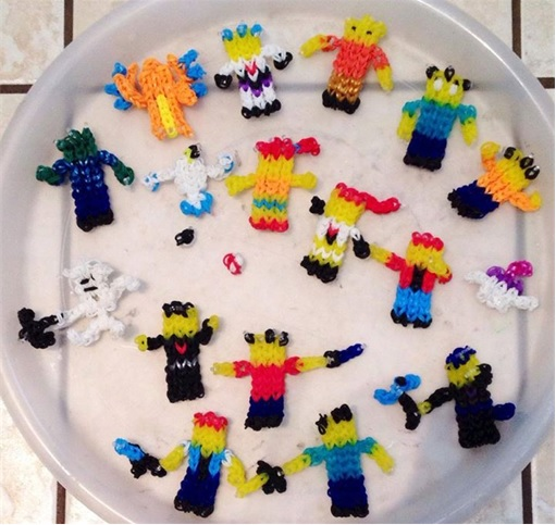 Loom Bands - Rainbow Loom - miniature person