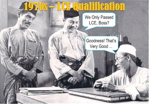 Malaysian LCE Exam - 1970s