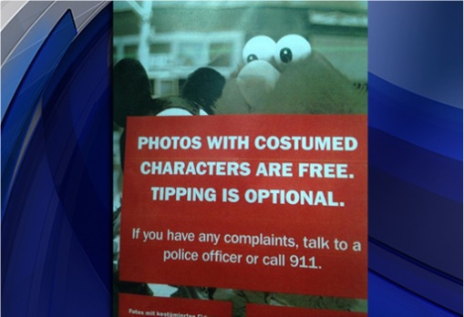 NYPW fliers about optional free tipping