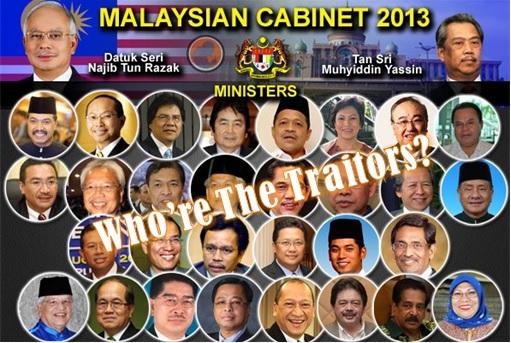 Najib Cabinet Members - Who Are The Traitors