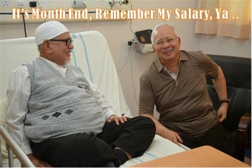 PAS Hadi Awang with Najib Razak - Mole