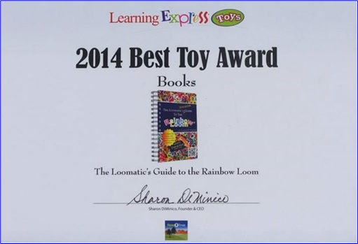 Rainbow Loom - 2014 Best Toy Award from Learning Express Toys