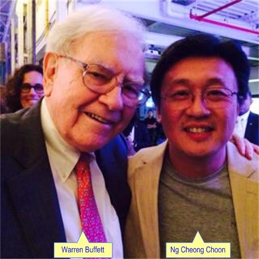 Rainbow Loom Cheong Choon Ng - photo with Warren Buffett
