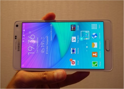 Samsung Galaxy Note 4 - wide screen view