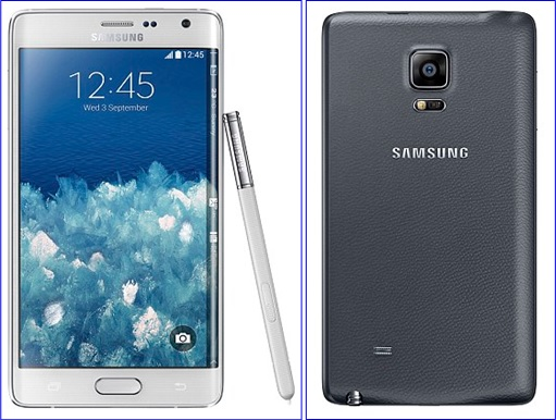 Samsung Galaxy Note Edge - front and rear view