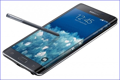 Samsung Galaxy Note Edge - with stylus
