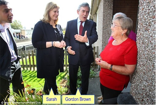 Scotland Independence - Gordon Brown and Wife Sarah