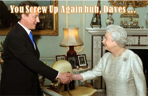 Scotland Independence - Queen Meets David Cameron - Screw Up