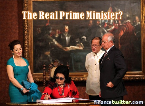 The Real Malaysian Prime Minister - Rosmah at Philippines signing