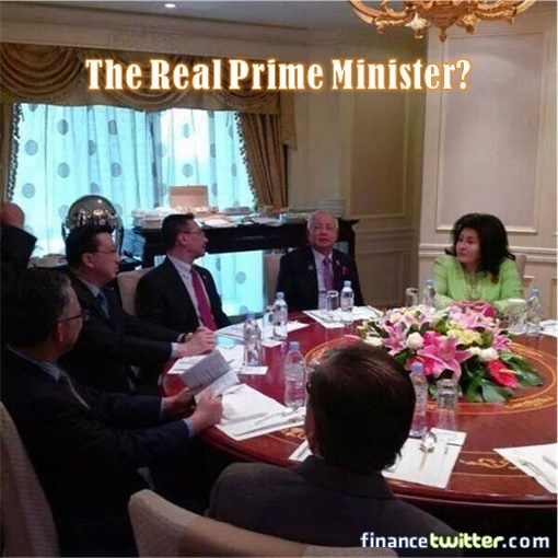 The Real Malaysian Prime Minister - Rosmah with Najib and Senior Cabinet Ministers