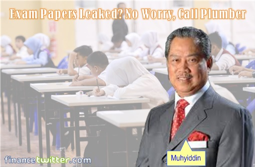 UPSR 2014 Science and English Papers Leakages - Muhyiddin Call Plumber