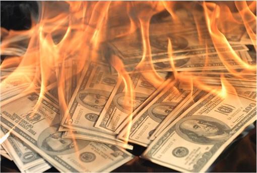 Here's Proof US Govt's Burning Money - Record High Revenues $2.66 Trillion, But Deficit $589 Billion