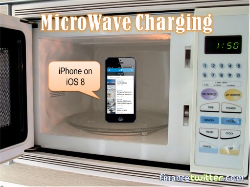 iPhone insider Microwave Oven - Charging
