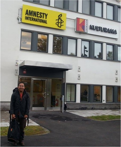 Ali Abdul Jalil at Amnesty International Sweden