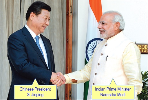Asian Infrastructure Investment Bank (AIIB) Setting Up - Chinese President Xi Jinping and Indian PM Narendra Modi