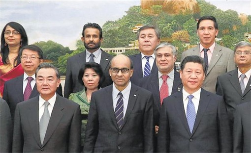 Asian Infrastructure Investment Bank (AIIB) Setting Up - Photo Session - Zoom in