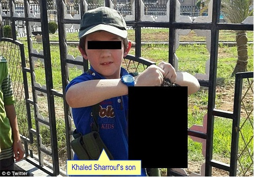 Australia terrorist - Sydney man Khaled Sharrouf's Son holding a head