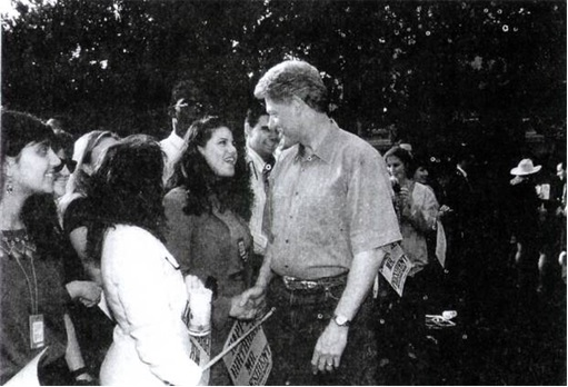 Bill Clinton and Monica Lewinsky - Old Photo - 2