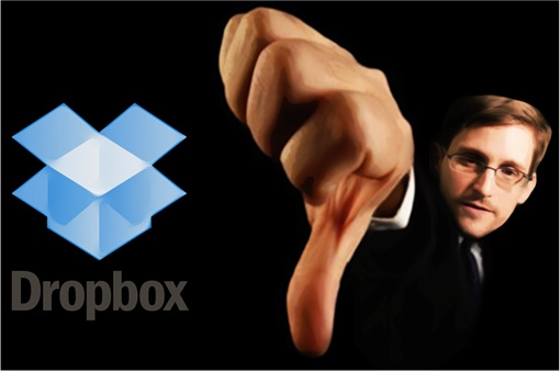Edward Snowden Thump Down Dropbox