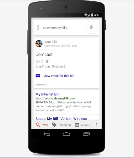 Google Search mobile app can now remind users when bills are due