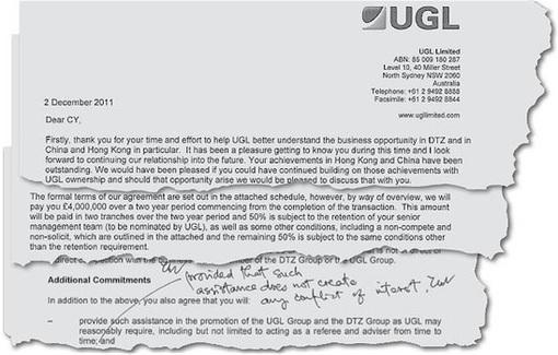 Hong Kong CY Leung Corrupt Scandal - UGL Documents