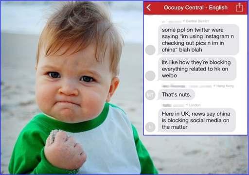 Hong Kong Demonstrations - FireChat Occupy Central - Cute Kid