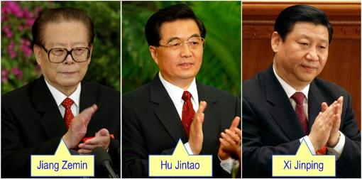 Jiang Zemin - Hu Jintao - Xi Jinping