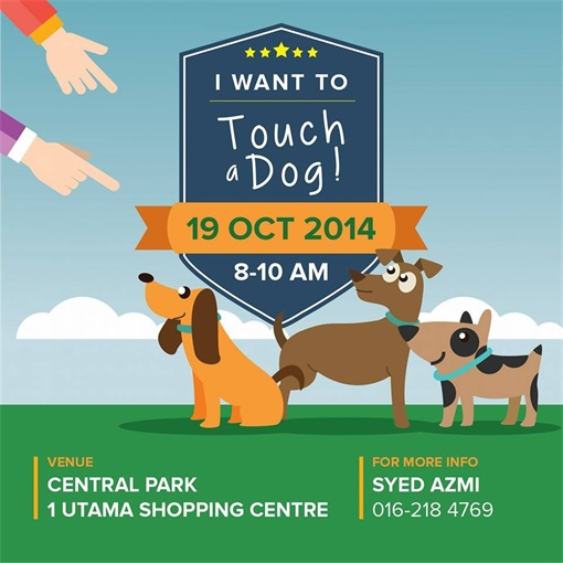 Malaysia I Want To Touch A Dog Invitation