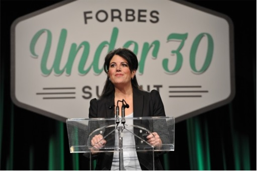 Monica Lewinsky on Forbes Under 30