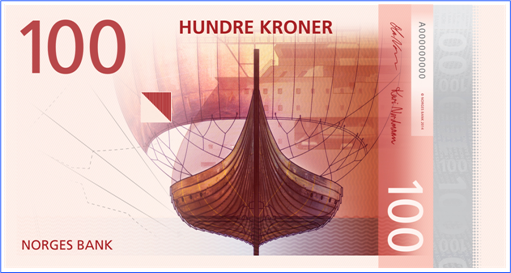 Norway New Bank Note - 100 Kroner - Front