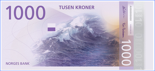 Norway New Bank Note - 1000 Kroner - Front