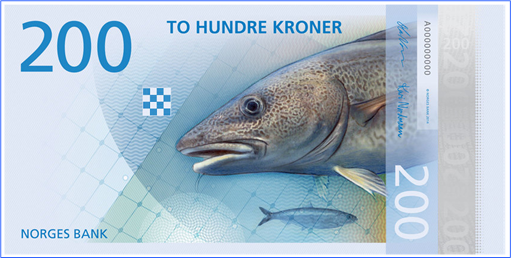 Norway New Bank Note - 200 Kroner - Front