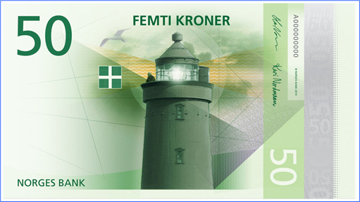 Norway New Bank Note - 50 Kroner - Front