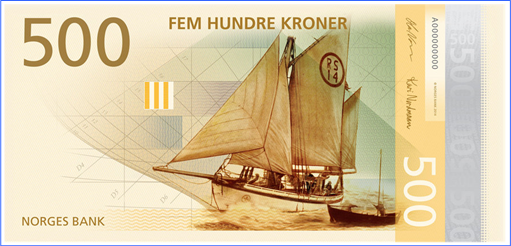 Norway New Bank Note - 500 Kroner - Front