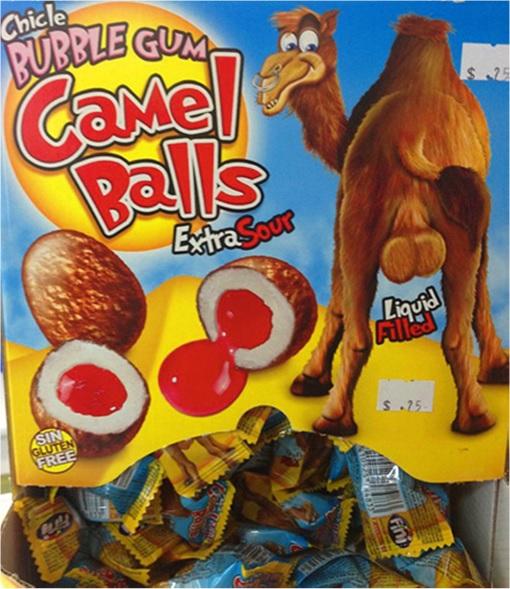 Product Packaging Fails - Camel Balls Bubble Gum