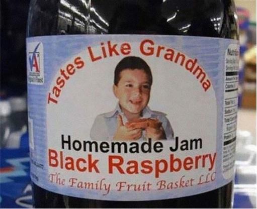 Product Packaging Fails - Homemade Jam Tastes like Grandma