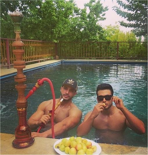 Rich Kids Of Tehran - Guys in Swimming Pool