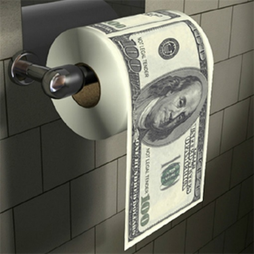 Shit To Earn Money - Money Toilet Paper Roll