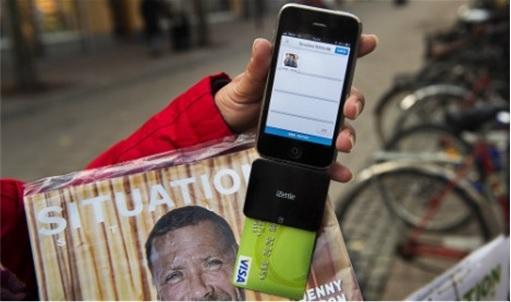 Sweden Cashless Country - Magazine Vendor Accept Debit Card