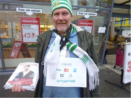 Sweden Cashless Country - Magazine Vendor