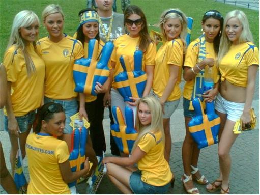 Sweden Cashless Country - Swedish Soccer Girl Fans