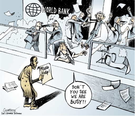The World Bank - Internal Fighting Cartoon