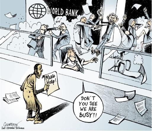 The World Bank - Internal Fighting Cartoon