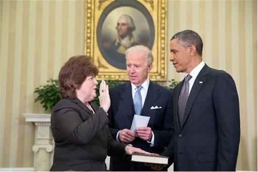 US Secret Service - Director Julia Pierson Taking Oath