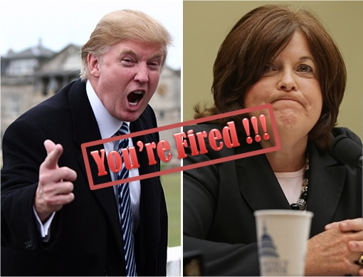 US Secret Service - Director Julia Pierson and Donald Trump - You're Fired