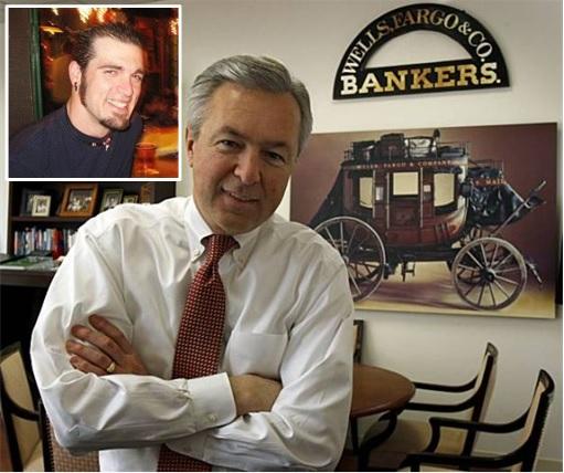 Wells Fargo CEO John Stumpf and Tyrel Oates Inset