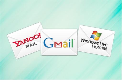 Yahoo Mail, Gmail, Hotmail