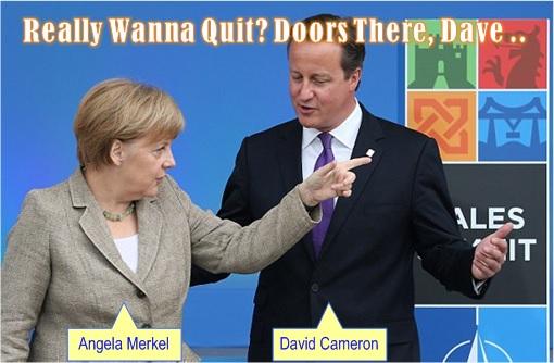 Britain May Quit EU - Angela Merkel Calls David Cameron Bluffs