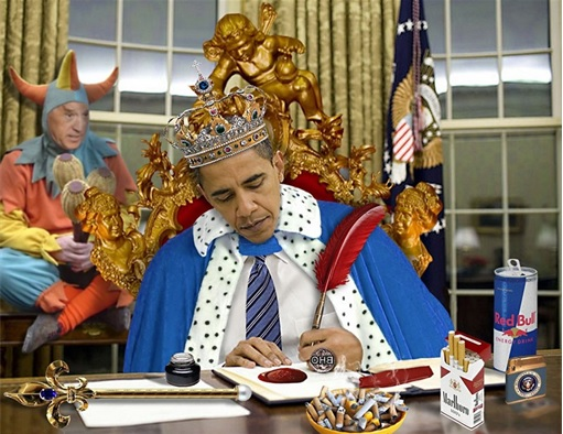 Emperor Barack Obama Signing Executive Order - Immigration